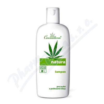 Cannaderm natura šampon na suché a poškozené vlasy