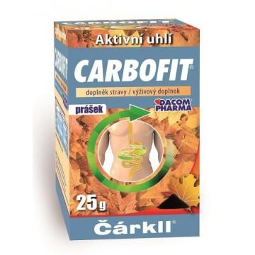 Carbofit aktivní rostlinné uhlí prášek