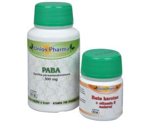 Paba 300mg + Beta karoten ZDARMA