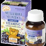 Müllerovy medvídci (vitamin C s příchutí černého rybízu) 45 tbl.