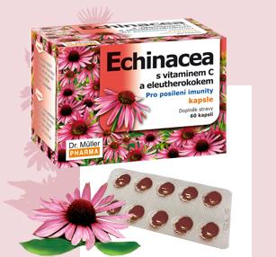 Echinacea s vitaminem C a eleutherokokem
