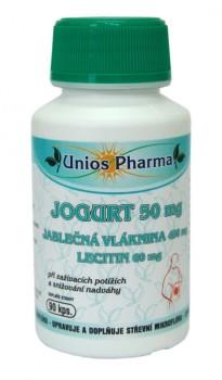 Jogurt 50 mg, jablečná vláknina 450 mg a Lecitin 60 mg