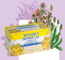 Müllerův dětský čaj s jitrocelem a mateřídouškou