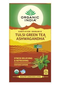 Tulsi zelený čaj ashwagandha 25 sáčků